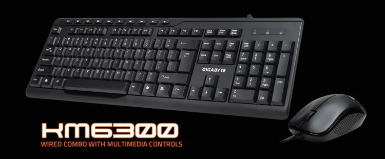 Wired Keyboard and mouse combo Gigabyte mk6300